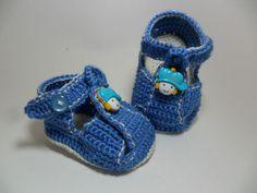 Sandalinha menino sapeca | Baby Crochê | Elo7