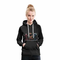 Good Morning Cat Women's Premium Hoodie … - LastStepPin Sweat Shirt, T Shirt Sport, Good Morning Cat, T Shirt Oversize, T Shirt Vintage, Outdoor Survival Gear, Simple Eye Makeup, Stick Figures, Pullover