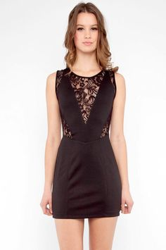 Lacey V dress with open back