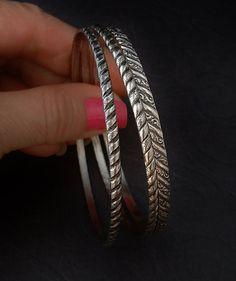 Vintage STERLING Silver BANGLES Bangle BRACELETS Signed Hallmarks