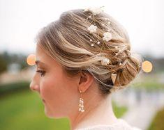 Wedding floral crown bridal hair accessories wedding by ArsiArt, $43.00