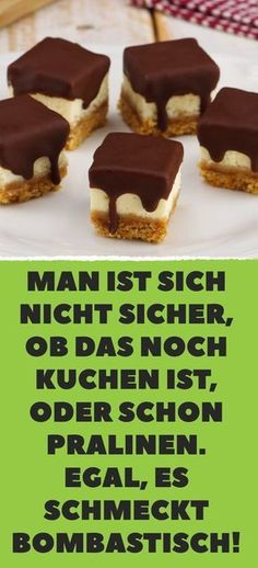 You are not sure if this is still cake or not Man ist sich nicht sicher, ob das noch Kuchen ist, oder schon Pralinen. One is not sure whether this is still cake or chocolates. No matter, it tastes bombastic! Mini Desserts, Fall Desserts, Baking Recipes, Snack Recipes, Italian Cookie Recipes, Praline Cake, Italian Pastries, Biscotti Cookies, Easy Smoothie Recipes