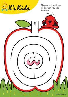 Vale Design free printable maze - Google'da Ara Preschool At Home, Free Preschool, Preschool Learning, Kindergarten Worksheets, Worksheets For Kids, Preschool Activities, Mazes For Kids Printable, Free Printable, Dots Game