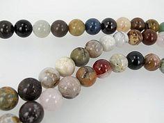 Multi gemstone beads, Assorted gemstone beads, half strand by Susiesgem on Etsy