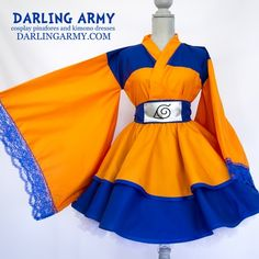Naruto Uzamaki Cosplay Kimono Dress Wa Lolita Skirt Accessory | Darling Army