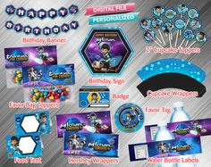 Miles From Tomorrowland Printable Party Package by kidspartydiy