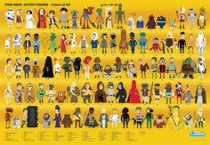 Star Wars Action Figure Compendium Poster