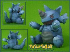 Pokemon - Rhydon Doll Free Papercraft Download - http://www.papercraftsquare.com/pokemon-rhydon-doll-free-papercraft-download.html#Pokemon, #Rhydon, #RhydonDoll