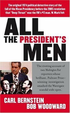 All the President's Men by Bob Woodward et al., http://www.amazon.com/dp/1416522913/ref=cm_sw_r_pi_dp_CNdqtb18PPB12