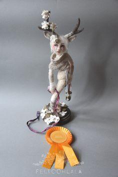 https://flic.kr/p/Mid6wg   Cerf   needle felted art doll by FELTOOHLALA-GDS 2016…