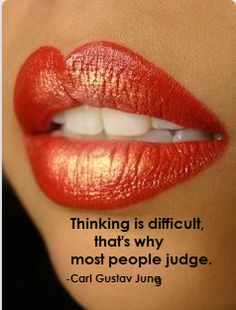 Think before judge