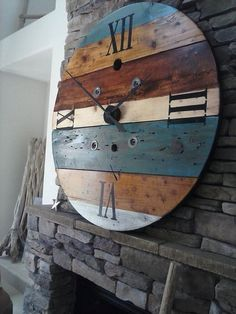 ***NOTE*** When ordering please use the Request Custom Order button This clock is made from an old wooden wire spool. It has been sanded,