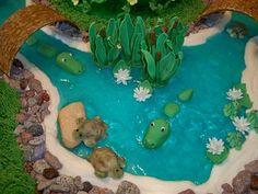 Crocodiles in Water cake idea