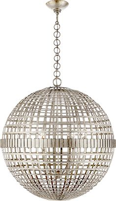 MILL CEILING LIGHT This is spectacular in person, both in silver and gold  also comes in a smaller size, for over island