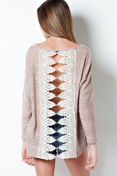 Autumn Breeze Crochet Back S... from charmeddetailsboutiq... on Wanelo