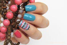 Summer to Fall chevron nails - Maris Nail Polish Blog