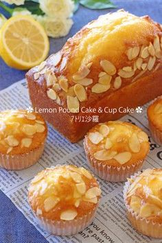 Moist and fresh ✿ fascinating lemon cake Bakery Recipes, Sweets Recipes, Cupcake Recipes, Sweets Cake, Cookie Desserts, Japanese Bakery, Baking And Pastry, Cafe Food, Cake Flavors