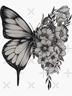 "Butterfly Tattoos 58356 ""Butterfly Tattoo Shawn Mendes"" Sticker by merchal Cover Up Tattoos For Women, Lower Arm Tattoos, Tattoos For Women Flowers, Tattoos For Women Half Sleeve, Shoulder Tattoos For Women, Wrist Tattoos For Women, Side Thigh Tattoos Women, Big Cover Up Tattoos, Lower Stomach Tattoos"