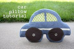 Car Pillow tutorial http://www.noodle-head.com/2010/06/car-pillow-tutorial.html