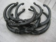 Forged Iron Bracelet with Wild Twists by dragonflyforge on Etsy