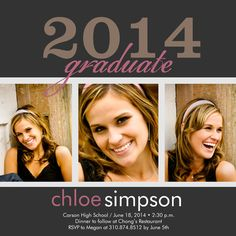 Graduation Party Invitations - Select printing options and begin customizing your card for design 4102 Senior Invitations, Graduation Invitations, Graduation Announcement Cards, Graduation Party Decor, Holidays And Events, Good Times, Photoshop, Gemstones, Celebrities
