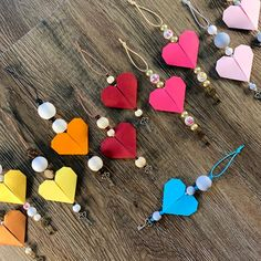 Butterfly love heart ornaments -spring-tree valentines  decorations-natural-farmhouse style-rustic-animals-wood-classrooms 4