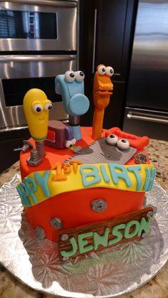 Handy Manny Cakes - Torta Manny a la Obra Happy Birthday Cakes, Boy Birthday, Cupcake Cookies, Cupcakes, Tool Cake, Disney Cakes, Novelty Cakes, Cakes For Boys, Party Cakes