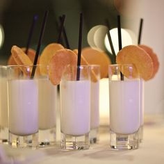 Milk & Sugar Cookie Shooters // photo by: Click Photography KC // Catering: ARAMARK - Kansas City Convention Center