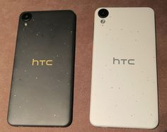 """HTC's new midrange phones have front-facing speakers and a unique """"speckle-painting"""" design. Boom Sound, Mobile World Congress, Smartphone News, Htc One, Paint Designs, Speakers, Sony, Phones, How To Find Out"""