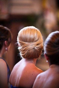 This looks like it could be the back of AC's head. Bride hair suggestion.... I think soooo....
