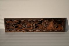 24 Coat/Hat Rack with cowhide cast iron by WesternDesignsByTim, $55.00