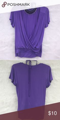 Agb shirt Purple AGD beaded halter and cross shirt size XL would fit 14/16 stretchy material AGB Tops