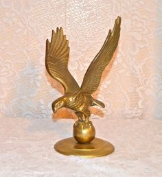 Brass Eagle Statue Decorative Brass Eagle Brass Office by WVpickin
