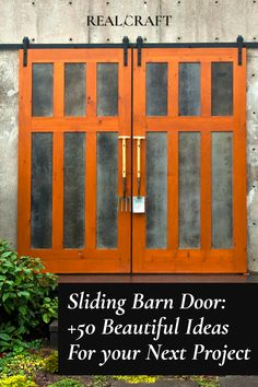 Exterior Doors, Interior Barn Doors, Door Design, House Design, Room Partition Designs, Diy Pallet Wall, Art Deco Bathroom, Rustic Home Design, Decoration Piece
