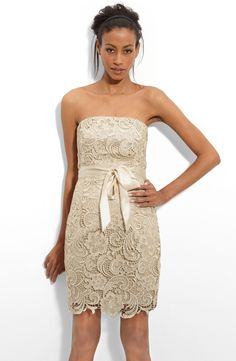 Adrianna Papell Strapless Lace Sheath Dress by nordstrom