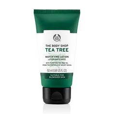 The Tea Tree Mattifying Lotion is a light, non-oily lotion with tea tree oil that sinks into the skin to provide lightweight hydration and oil control while helping to prevent blemishes with regular use. The easily absorbed face lotion is clinically proven to give clearer-looking skin in one week.