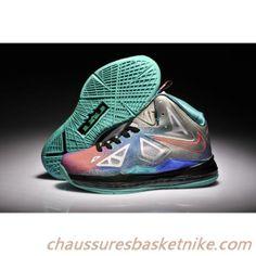 best sneakers 44aba e0390 Nike Air Max LeBron James X Classic Gris  Lune  Orange chaussures de  Basket Shoe