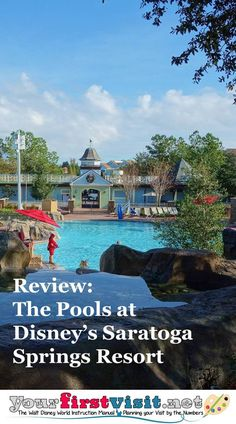 There are five pools at Disney's Saratoga Springs Resort & Spa. Two pools--at the Treehouses and Congress Park--have little to recommend them other than conveni Disney Vacation Club, Disney Vacation Planning, Disney World Planning, Walt Disney World Vacations, Disney World Resorts, Disney Trips, Vacation Ideas, Disney Hotels, Disney Parks