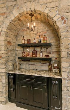 Bars & Wine Storage Cincinnati Home and Garden professionals, photo gallery and expert advice Boutique Decor, Wine Storage, Extra Storage, Stone Houses, Home Additions, Inspired Homes, Bars For Home, Kitchen Remodel, Home And Garden
