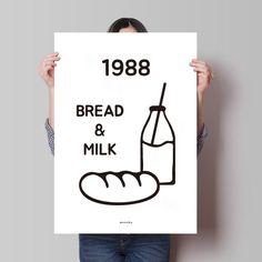 텐바이텐 10X10 : 유니크 인테리어 디자인 포스터 M 1988 베이커리2 Cafe Logo, Bakery Logo, Brand Identity Design, Logo Design, Graphic Design, Editorial Layout, Editorial Design, Cafe Menu Design, Shop Signage
