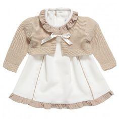 Paz Rodriguez Baby Girls Pink Pram Coat and Bonnet Baby Girls, Baby Girl Dresses, Baby Baby, Dress With Cardigan, Baby Cardigan, Baby Sweaters, Baby Knitting Patterns, Baby Sewing, Kids Fashion