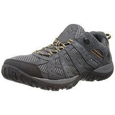Columbia 7035 Mens Redmond Gray Suede Hiking Trail Shoes 11.5 Medium (D)  BHFO