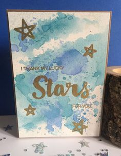 Thank my lucky stars greeting card by AmaranthineArtUK on Etsy
