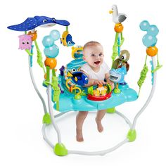 Baby jumper activity seat finding nemo bouncer jumperoo toy station exersaucer newonly one baby jumper activity seat left!item description:the disney baby finding nemo sea baby jumper activity s Friend Activities, Sea Activities, Disney Babys, Baby Sense, Baby Bouncer, Baby Supplies, Dory, Baby Fever, Toys
