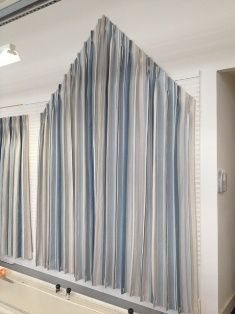 Apex Angled Window With Goblet Pleat Curtains Italian