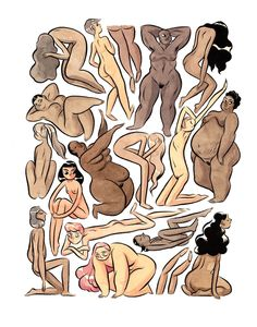 Body positivity - MOOSEKLEENEX - Illustration by Kelly Bastow, Etsy store to support the artist: https://www.etsy.com/shop/Moosekleenex
