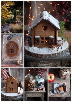 { Pour Julie et ses enfants… } | Saines Gourmandises Sans Lactose, Julie, Santa, Bird, Outdoor Decor, Christmas, Home Decor, Sainte Lucie, Gingerbread Houses