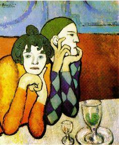 Les Deux Saltimbanques (Arlequin et sa Compagne) - Pablo Picasso