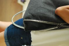 crafts:: stella mccartney bag with metal chain DIY | little projects in style