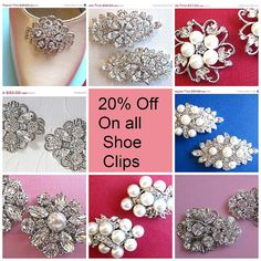 Sale on all Shoe Clips Wedding Prom Bridesmaids by MissJoansBridal, $0.25